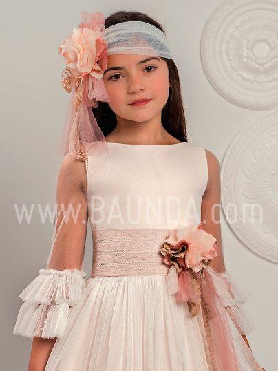 Vestido comunión bohemio Lola Rosillo 2019 modelo Q324 cuerpo