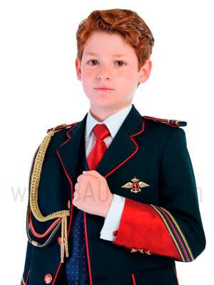 Traje de almirante con rojo 2019 Varones 2069 para comunión en Madrid