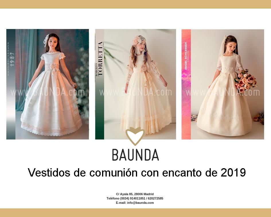 Vestidos de comunion con encanto de 2019