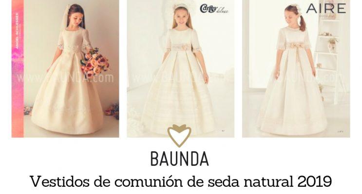 vestidos comunión seda natural 2019 Madrid