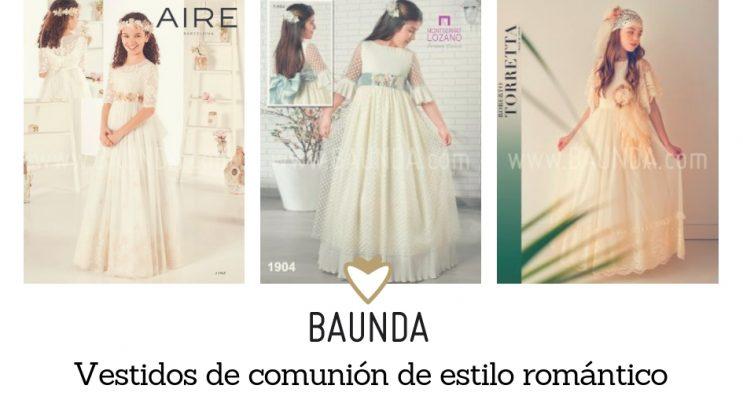 vestidos de comunion romanticos 2019 Madrid