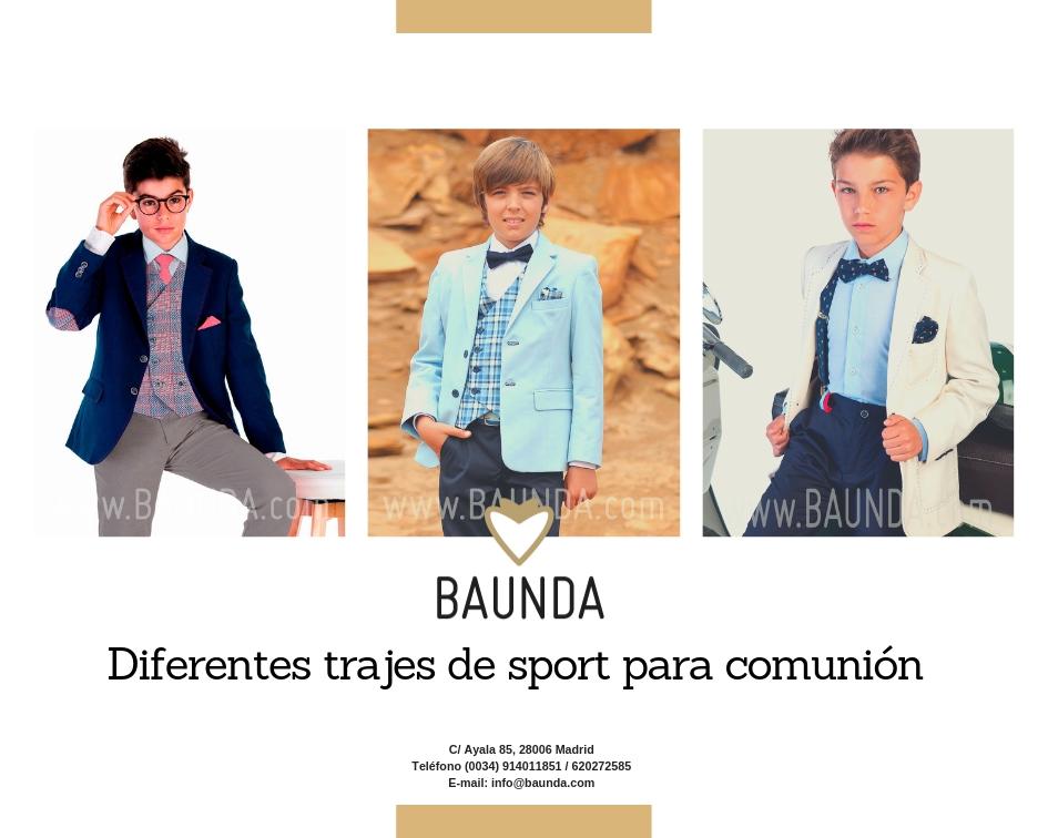 Diferentes trajes sport de comunión niños