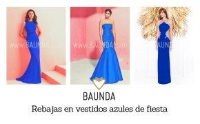 rebajas en vestidos azules de fiesta invitadas bodas
