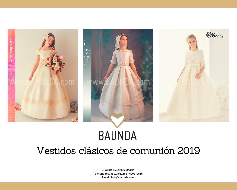 Colección vestidos clásicos comunión 2019 tienda on line Madrid