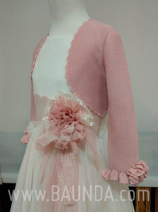 Chaqueta comunión rosa palo 2019 Baunda C1920