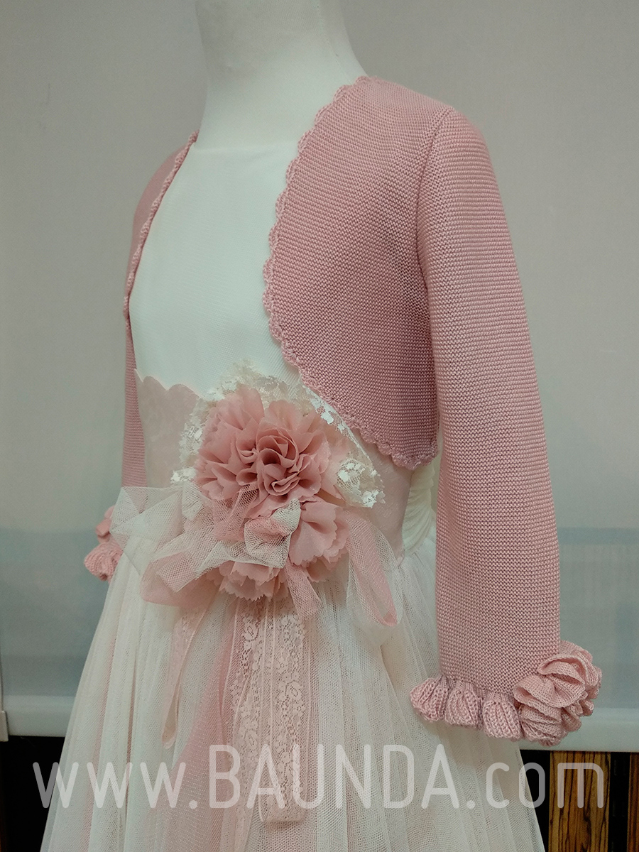 14c0494b2d Chaqueta comunión rosa palo 2019 Baunda C1920 Madrid y tienda online