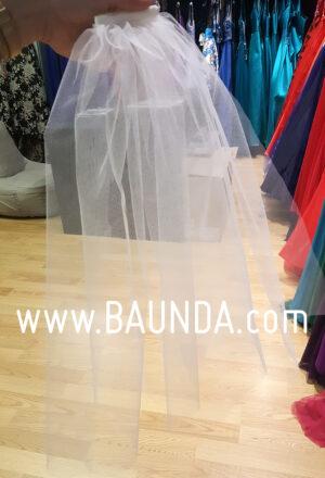 Velo de comunión de tul liso 2019 Baunda modelo V02