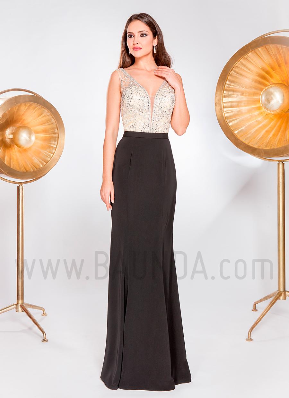 Vestido de fiesta 2019 XM 49066 champán y azul marino
