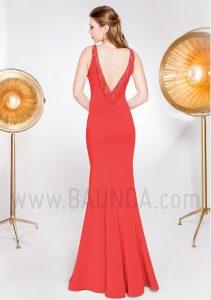 Vestido de fiesta 2019 XM 49077 rojo espalda