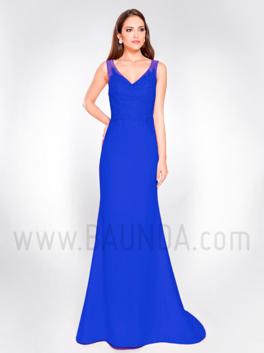 Vestido largo azulón 2019 XM 8061