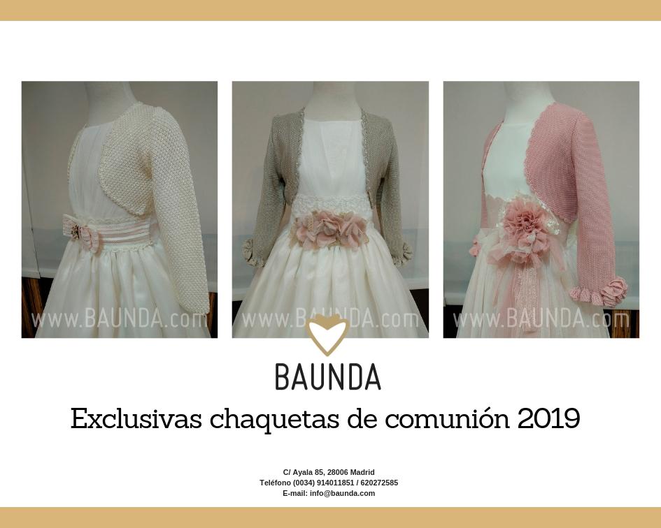 chaquetas de comunión 2019