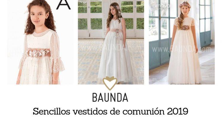 73302888e Sencillos vestidos de comunión 2019