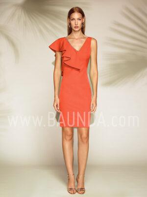 Vestido corto coral 2019