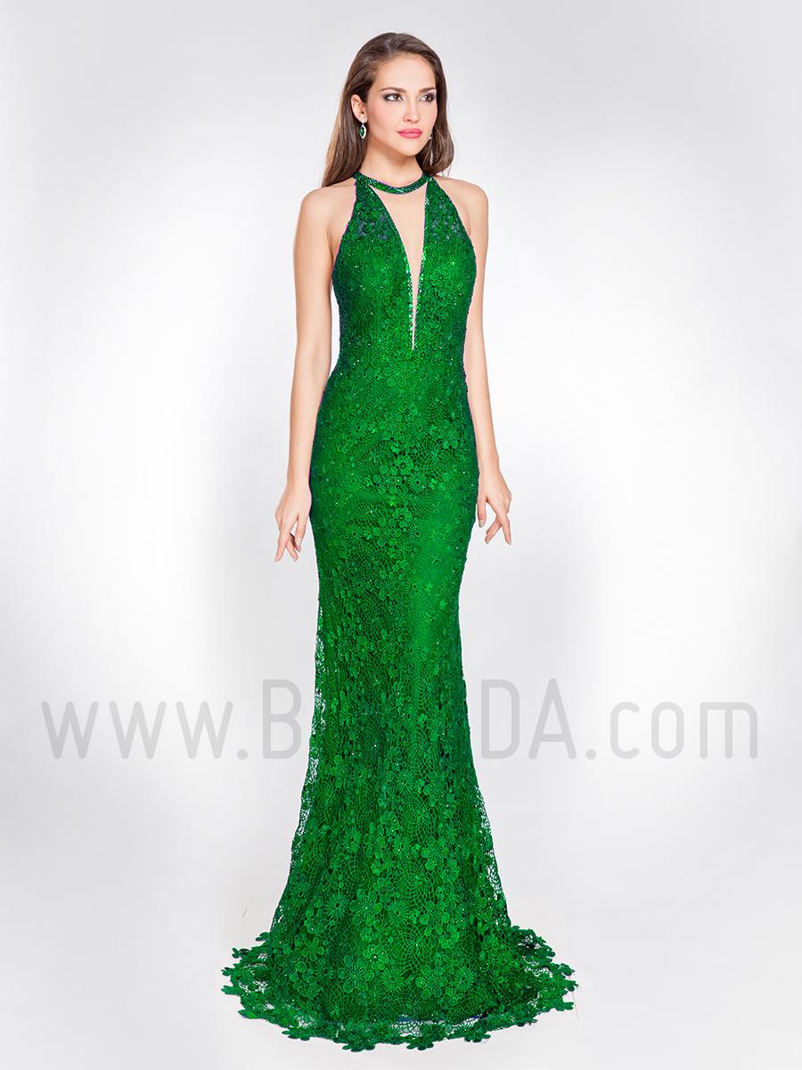 ab575752e Baunda Vestido sirena encaje verde 2019 Alma Couture 1016 Madrid y ...