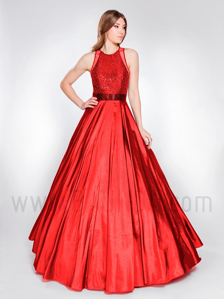 Vestido de fiesta rojo hermana de la novia 2019 XM 49044