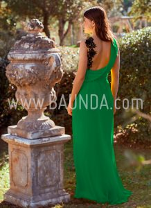 Vestido largo verde 2018 Baunda 1872