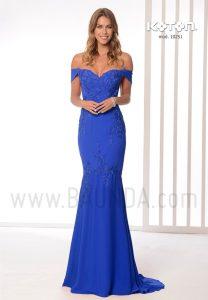 Vestido largo sirena azul 2019 Koton 10251
