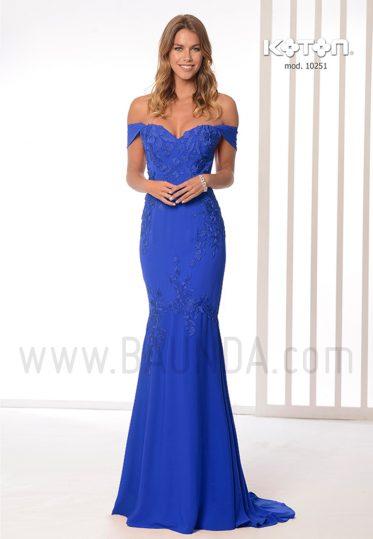 1fb6ffaaa3a Baunda Vestido largo sirena azul 2019 Koton 10251 en Madrid y tienda ...