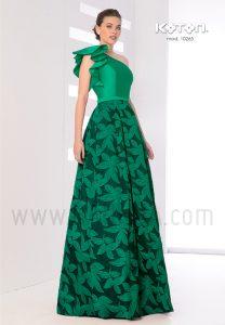 Vestido largo verde 2019 Koton 10265
