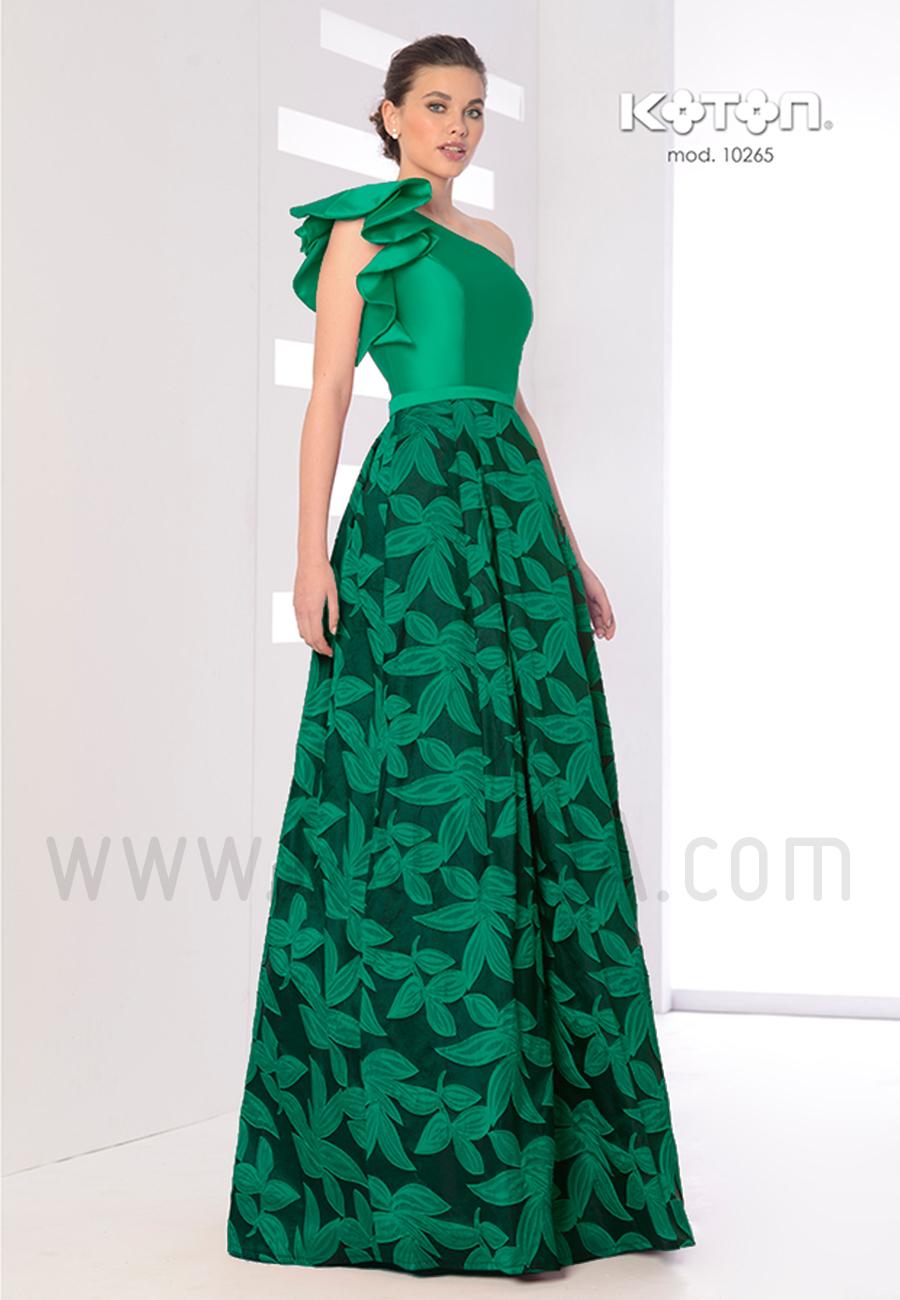 83e582379 Vestido largo verde 2019 Koton 10265