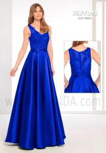Vestido de fiesta 2019 Koton 30203 azulón