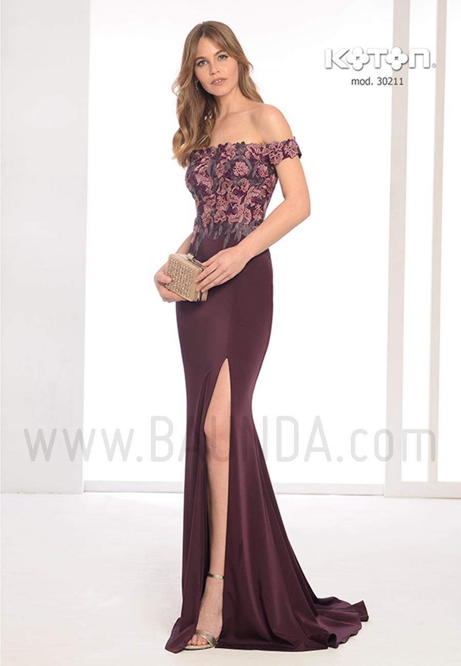 Vestido De Fiesta 2019 Koton 30211 Berenjena