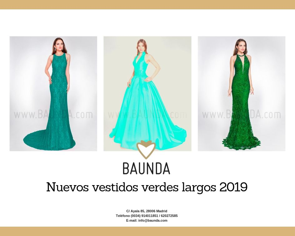 baunda vestidos verdes largos bodas fiesta