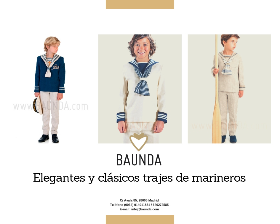 trajes marineros comunion Madrid
