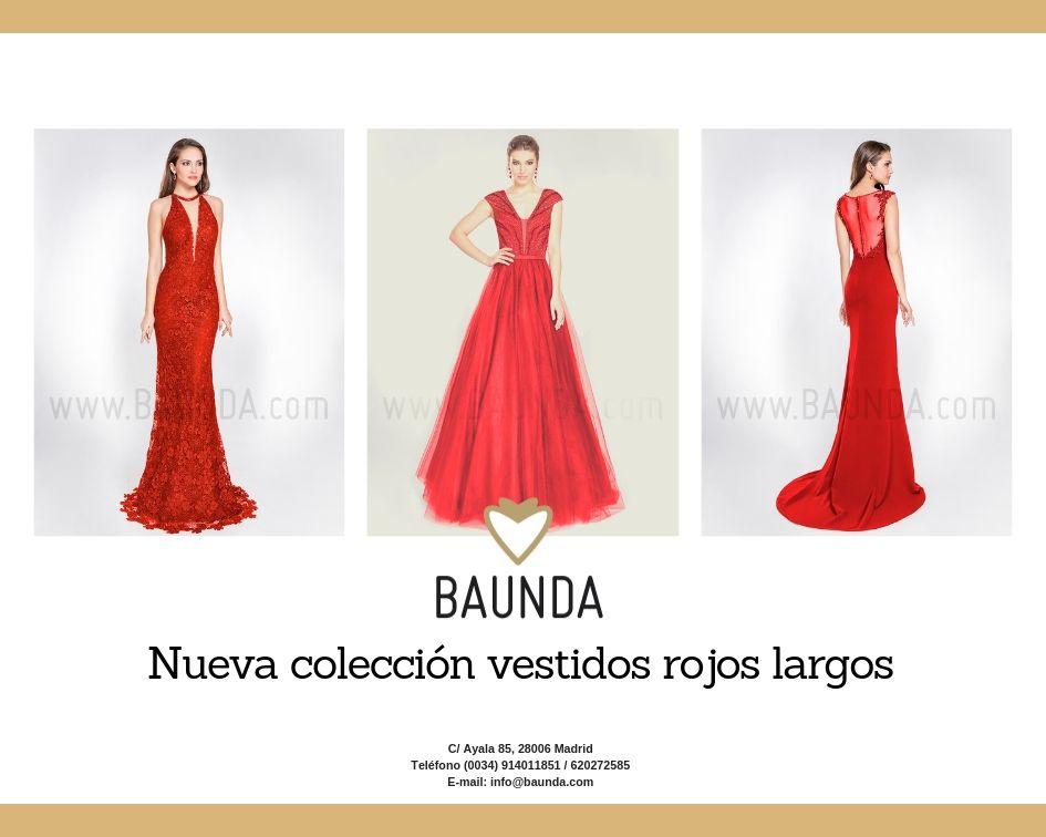 Baunda Nueva Colección De Vestidos Rojos Largos Para Bodas Y