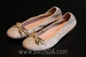 Manoletinas de comunión rosa Baunda Z1724