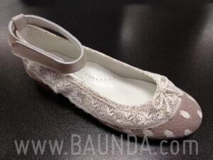 Zapatos de comunión plumeti 2019 Baunda Z1903