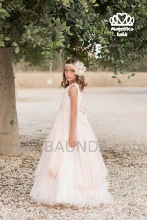 Vestido de comunión colección 2020 de Magnífica Lulú estilo vintage.