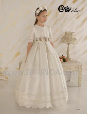vestido de comunión clásico de Deluxe 2020 elaborado en seda natural