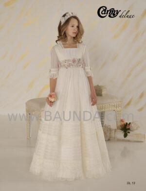 Vestido de comunión vintage Deluxe 2020 tul bordado de la firma española Carmy