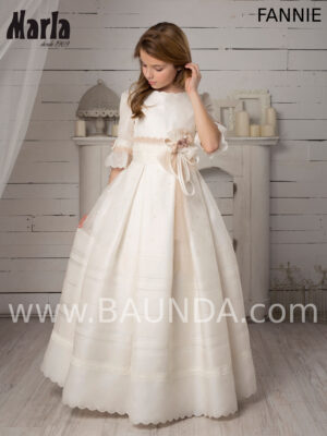 Vestido de comunión en seda natural Valeria 2020 modelo Fannie