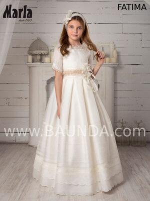 Vestido de comunión en seda natural Valeria 2020 modelo Fatima.