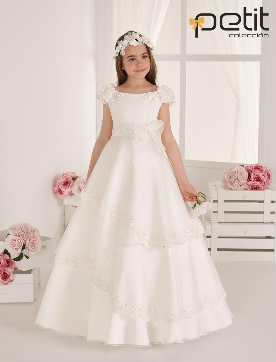 Vestido comunión puro estilo princesa de colección 2020.