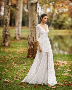 vestido_novia_encaje_boho_ibicenco_manga_francesa_romantico