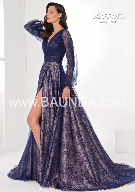 vestido_fiesta_azul_marino_encaje_tul_2020