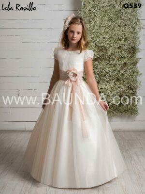 vestido_comunion_marfil_rosa_sencillo