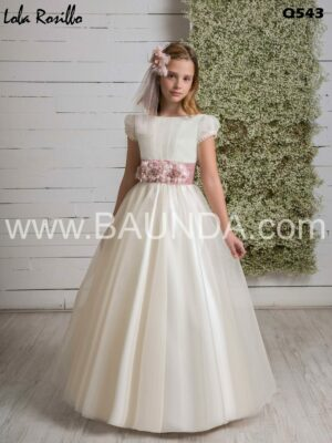 vestido_comunion_liso_Sencillo_blanco_rosa