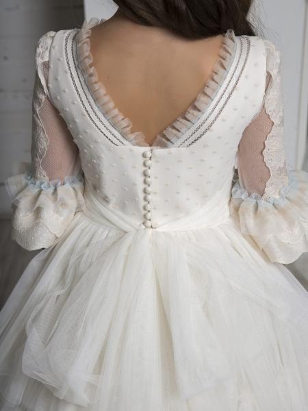 vestido de comunión Hannibal Laguna clasico y de calidad confección española